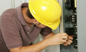 electrician with panel